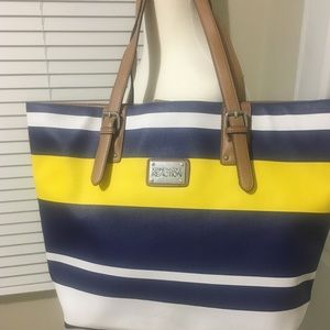 Kenneth Cole Reaction multi-color summer tote.